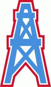 Wieża wiertnicza - symbol Houston Oilers