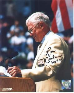 Lou Creekmur podczas przemowy przy ceremonii włączenia do Hall of Fame