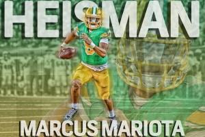 Marcus Mariota, najlepszy zawodnik NCAA w sezonie 2014.