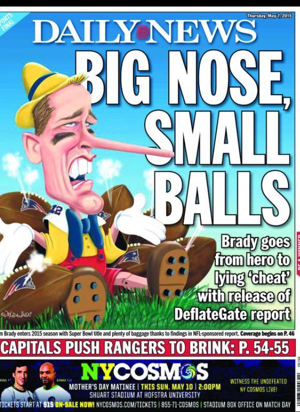 Daily News nigdy nie owija w bawełnę