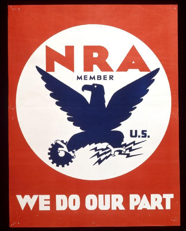 Logo Blue Eagle to jeden z najważniejszych symbolu gospodarki amerykańskiej
