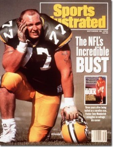 Tony Mandarich Green Bay Packers September 28, 1992 X 41675 Credit: John Biever- contract