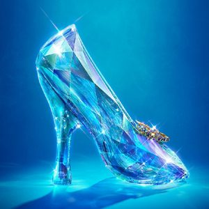 13cm-Exclusive-Custom-Cinderella-Glass-Slipper-Crystal-Wedding-Shoes-High-Heels-Peep-font-b-Pumps-b